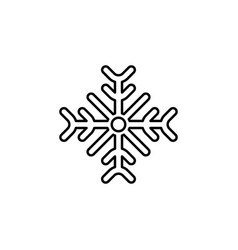 christmas snowflake outline icon element of new vector image