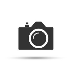 Common slr camera icon sign placed on white vector