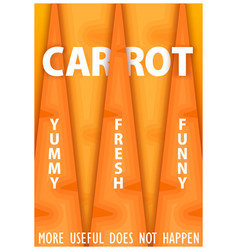 Conceptual poster design carrot more useful does vector