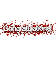 Congratulations 3d sign vector