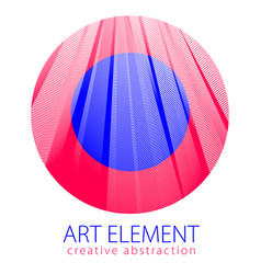 design artistic element of great lines surface vector image