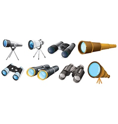 Different telescope designs vector image