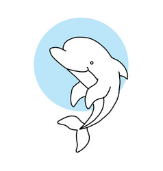 dolphin icon dolphin icon flat for vector image