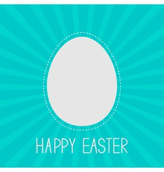 Easter egg frame template Dash line Sunburst vector image