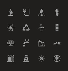 energy - flat icons vector image