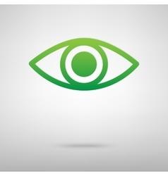 Eye Icon green icon vector