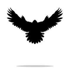 falcon bird black silhouette animal vector image