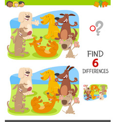 Find differences with dog characters vector
