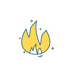 fire icon design vector image