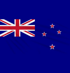 flag new zealand swaying in wind realistic vector image