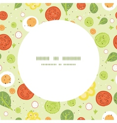 fresh salad frame seamless pattern vector image