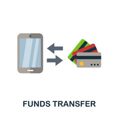 Funds transfer flat icon color simple element vector