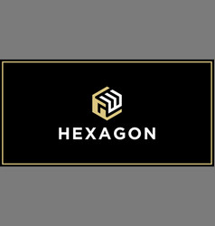 gw hexagon logo design inspiration vector image