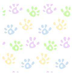 Hand prints pattern vector