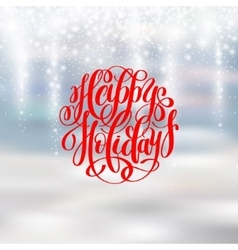 Happy holidays greeting card design with snow vector