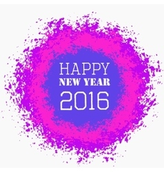 Happy New Year Colorful Greeting vector image