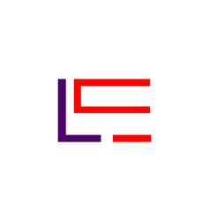 initial letter le logo template design vector image