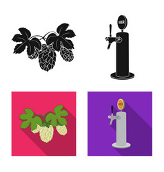 Isolated object of pub and bar symbol collection vector