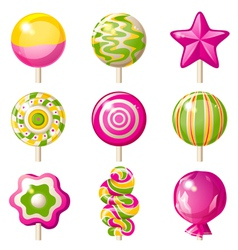 Lollipop icons vector image