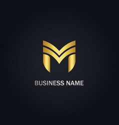 m initial business company logo vector image