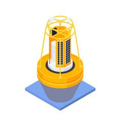 Marine weather buoy composition vector