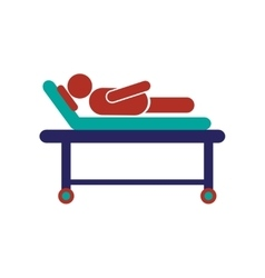 Modern flat icon on white background patient vector