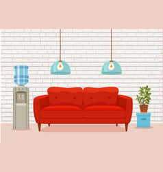 office waiting room interior cartoon vector image