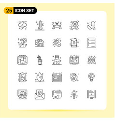 Pack 25 modern lines signs and symbols for web vector