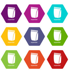 package icons set 9 vector image