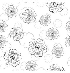pattern with stylized flowers vector image