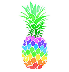 pineapple fruit summer food vector image