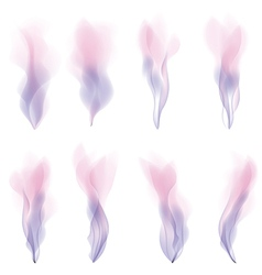 Pink smoke strokes background version vector image