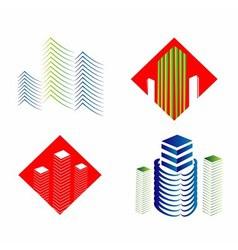 Real Estate Logo Set vector