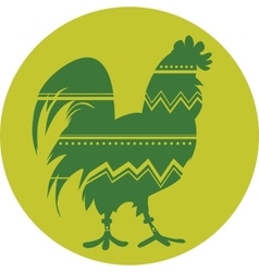 Rooster symbol of Chinese New Year vector