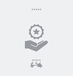 Service offer - top rating - minimal icon vector