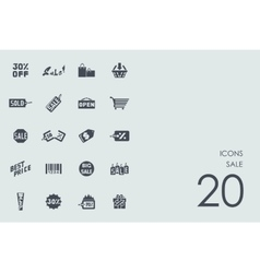 Set of sale icons vector