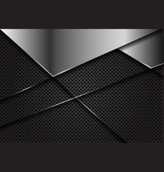 Silver blank on dark grey circle mesh vector