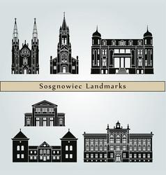 Sosgnowiec landmarks vector