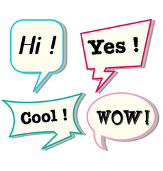 Speech bubbles with different expressions vector