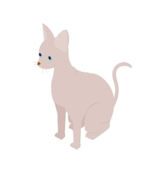Sphinx cat icon isometric 3d style vector