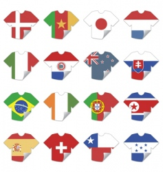 t-shirt flags vector image vector image