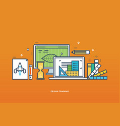training workflow technology and designer tools vector image
