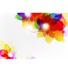 Transparent flowers vector image
