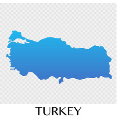 Turkey map in europe continent design vector
