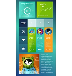 ui is a set components featuring vector image
