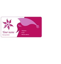 Visit card vector
