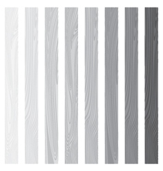 White Lath boards set isolated on white background vector image