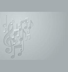 White Paper Music Note background vector image