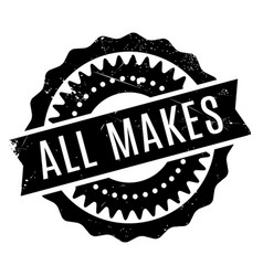 All makes rubber stamp vector