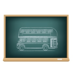 board English bus vector image vector image
